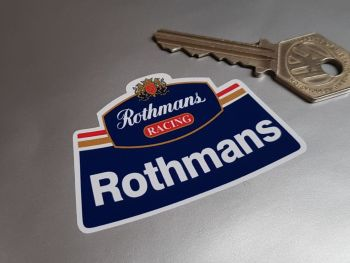 Rothmans Racing Curved Helmet Sticker 2.75""