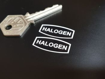 Halogen Headlamp White & Clear Stickers - 30mm or 40mm Pair