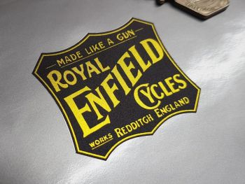 Royal Enfield Cycles Works Redditch Plaque Style Sticker 2""