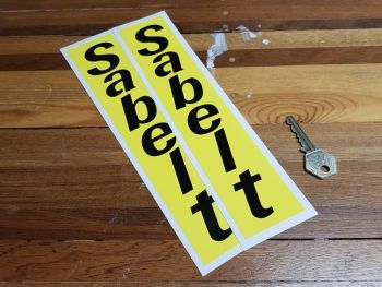 "Sabelt Vertical Yellow & Black Stickers 10"" Pair"