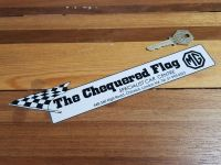 "MG Dealer The Chequered Flag Car Centre Window Sticker 10"""