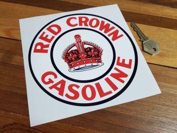 """Red Crown Gasoline Circular Sticker 6"""""""