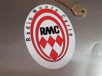 "Radio Monte Carlo RMC Oval Sticker 4.5"""
