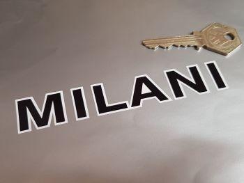 """Milani Black & White Text Stickers 4.75"""" Pair"""