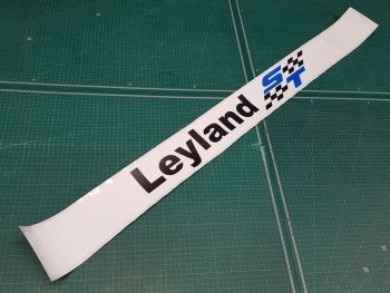British Leyland ST Screentop Sunstrip Visor Decal - Black Checks - 48""