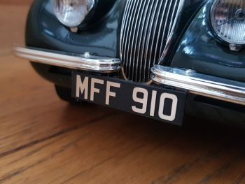 Model Classic Car Acrylic Custom Number Plates 1/18th