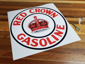 """Red Crown Gasoline Circular Sticker 12"""""""