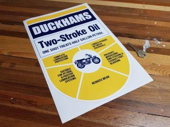 """Duckhams Two Stroke Oil Dispenser Sticker 13.5"""""""