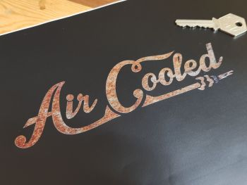 Air Cooled Rusty Style Cut Vinyl Sticker 7""