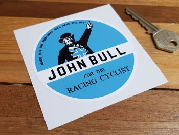 John Bull For The Racing Cyclist Sticker 85mm