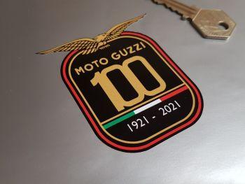 "Moto Guzzi 100 Years Celebration Sticker - 3"" or 4"""
