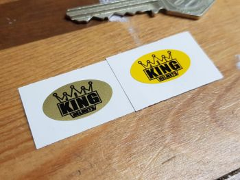 JOE KING Helmets Oval Stickers 23mm Pair