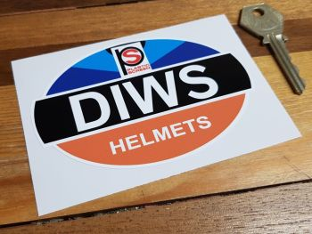 "DIWS Helmets Sticker 4.25"""