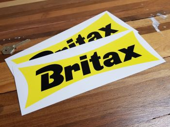 """Britax Waisted Yellow Stickers 10"""" Pair"""