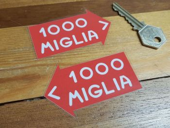 "Mille Miglia 1000 Window Stickers 3"" Pair"