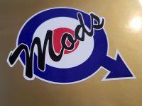 Mods RAF Roundel & Mars Symbol Sticker - 2.5