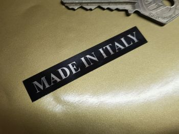 "Made in Italy Black & Foil Oblong Stickers 2.5"" Pair"