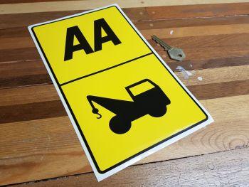 """AA Approved Breakdown Truck Sticker. 6"""" x 10""""."""