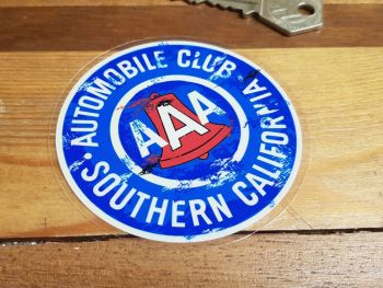 AAA Automobile Club Southern California Distressed Style Car Body or Window Sticker 3""