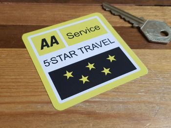 AA Service 5 Star Travel Static Cling Window Sticker 2.75""