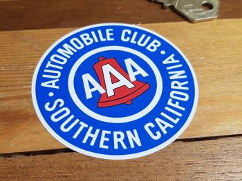 "AAA Automobile Club Southern California Sticker - 3"" or 4"""
