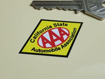 "AAA California State Automobile Association Stickers. 2"" Pair."