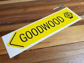 "Goodwood Retro AA Sign Sticker 12"""
