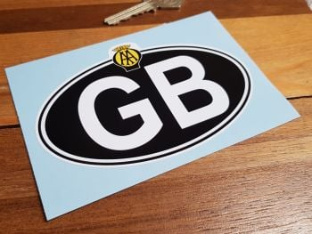 GB Old AA White on Black ID Plate No Rivets Sticker 5""