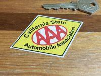 "AAA California State Automobile Association Sticker. 3""."