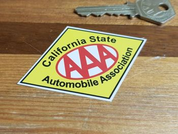 "AAA California State Automobile Association Sticker. 3""."