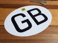 GB & AA Italian Job Style ID Plate Self Adhesive or Window Sticker 6""
