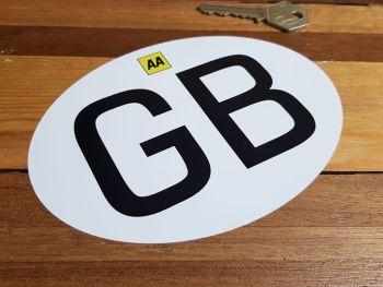 """GB & AA Italian Job Style ID Plate Self Adhesive or Window Sticker 6"""""""