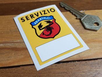 """Abarth & Co Servizio Service Sticker. 2.5""""."""