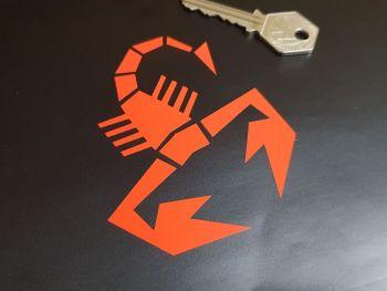 "Abarth Cut Vinyl Scorpion Stickers - 4"", 6"", or 7.5"" Pair"