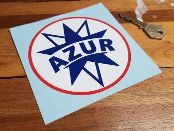 Azur French Gasoline Logo Circular Sticker. 110mm.