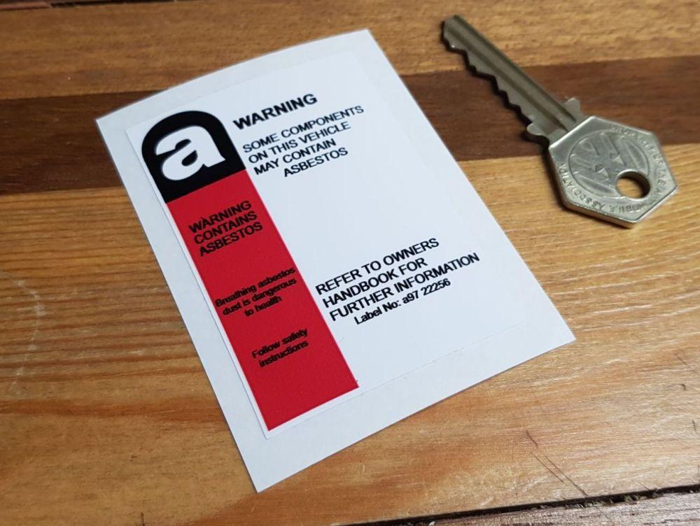 Asbestos Warning Sticker. 2