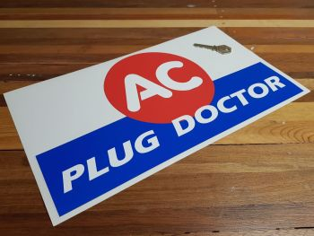 "AC Plug Doctor Sticker 14.5"""