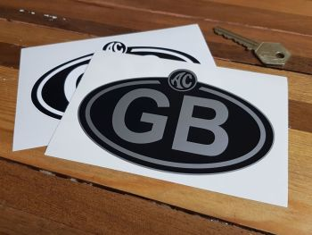 """AC Logo Nationality Country ID Plate Sticker. 5""""."""