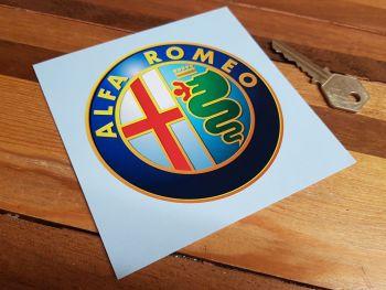 "Alfa Romeo Modern Style Logo Sticker - 2.75"", 4"", 5"", or 8"""