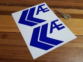 "AE Auto Parts Logo Stickers. 5"" Pair."