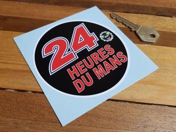 """ACO 24 Heures Du Mans LeMans Le Mans Circular Sticker. 4""""."""