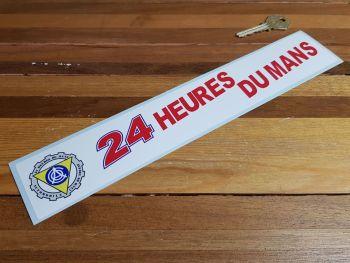 """ACO 24 Heures Du Mans LeMans Le Mans Oblong Sticker. 12""""."""