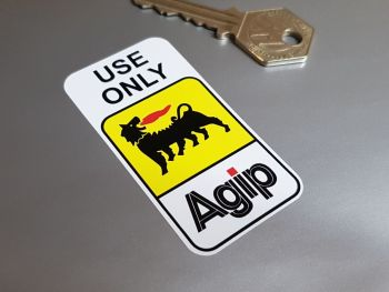 Agip 'Use Only Agip' Sticker 70mm