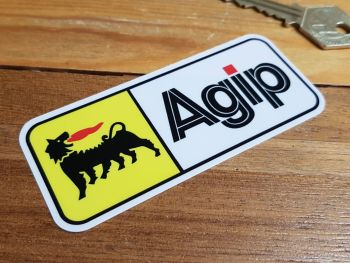 "Agip Coloured Oblong Window or Car Body Stickers. 4"" Pair."