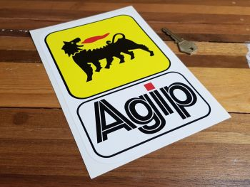 "Agip Earlier Style Tall Sticker. 9""."