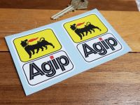 Agip Earlier Style Tall Stickers - 2.5