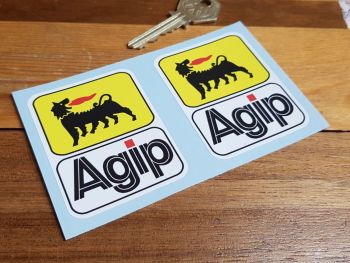 """Agip Earlier Style Tall Stickers - 2.5"""", 4"""", or 5"""" Pair"""
