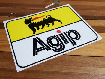 """Agip Later Style Wide Sticker. 8""""."""