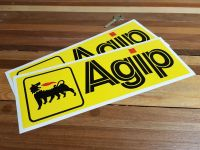 Agip Yellow Oblong Stickers. 3