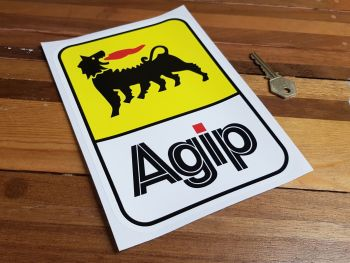 """Agip Later Style Tall Sticker. 8"""" or 11""""."""